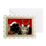 Vintage Cats Christmas Greeting Cards (Pk of 20)