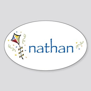 Nathan Oval Sticker
