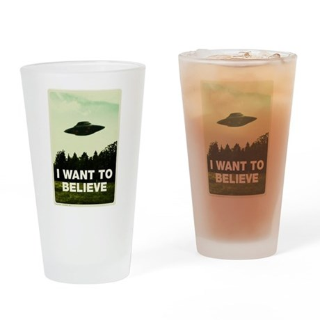 I WANT TO BELIVE Retro-labs.com Drinking Glass