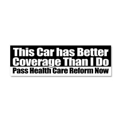 healthcarenotwarfareposter.png Car Magnet 10 x 3