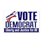 Democratic Victory Rectangle Car Magnet
