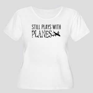 Still Plays With Planes Women's Plus Size Scoop Ne