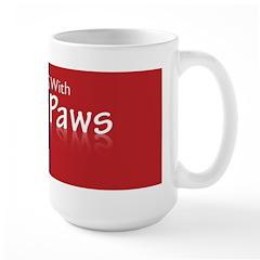 Partners With Paws Large Mug