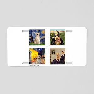 Famous Goldens (cl) Aluminum License Plate