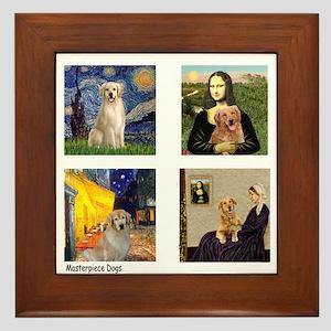 Famous Goldens (cl) Framed Tile