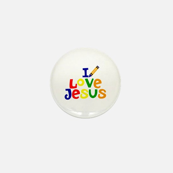 I Love Jesus Mini Button