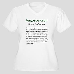 INEPTOCRACY Women's Plus Size V-Neck T-Shirt