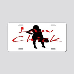 Law Chick Aluminum License Plate