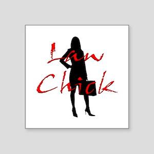 """Law Chick Square Sticker 3"""" x 3"""""""