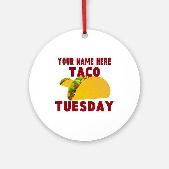 Taco Tuesday Round Ornament