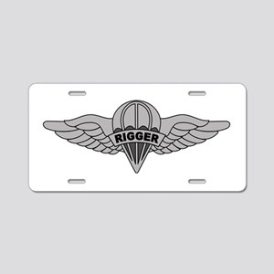 Parachute Rigger Aluminum License Plate