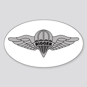 Parachute Rigger Sticker (Oval)
