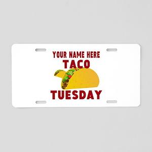 Taco Tuesday Aluminum License Plate