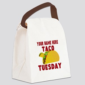 Taco Tuesday Canvas Lunch Bag