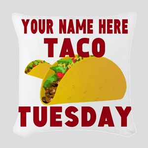 Taco Tuesday Woven Throw Pillow