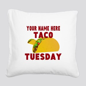 Taco Tuesday Square Canvas Pillow