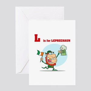 L is for Leprechaun Greeting Card