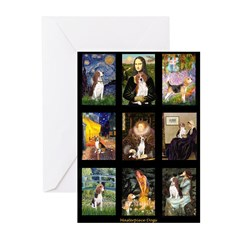 FamousArtBeagle Comp Greeting Cards (Pk of 10)