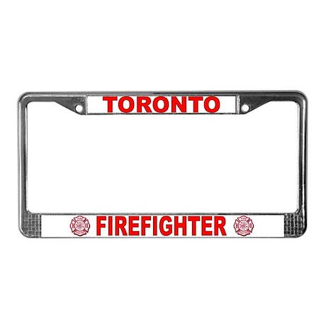 Toronto Firefighter License Plate Frame