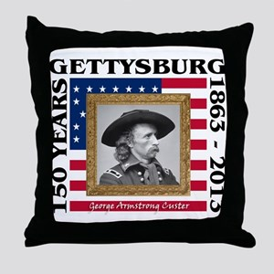 George Armstrong Custer - Gettysburg Throw Pillow