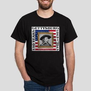George Armstrong Custer - Gettysburg Dark T-Shirt