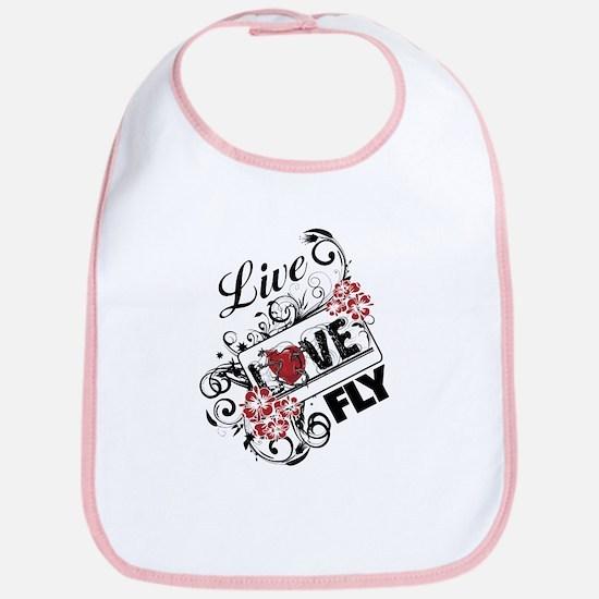 Live Love Fly Baby Bib