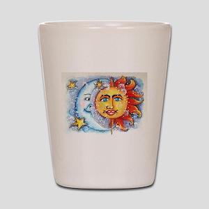 Celestial Sun and Moon Shot Glass