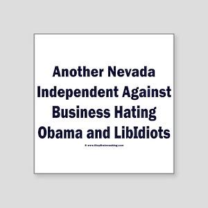 "Nevada Independent Square Sticker 3"" x 3"""