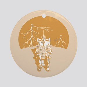 Electrical Storm Chair Ornament (Round)