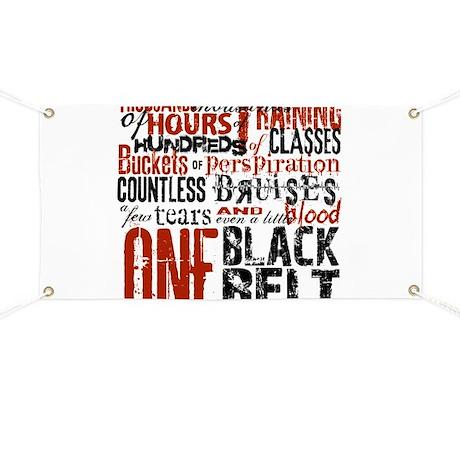 ONE BLACK BELT Banner