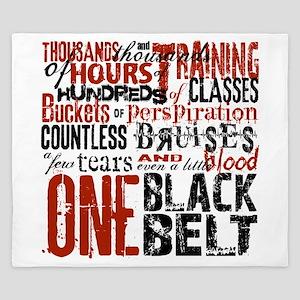 ONE BLACK BELT King Duvet