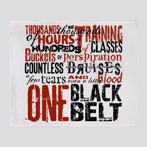 ONE BLACK BELT Throw Blanket