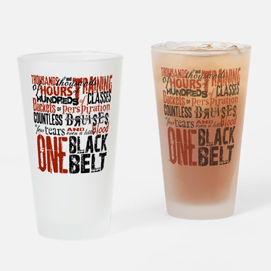 ONE BLACK BELT Drinking Glass