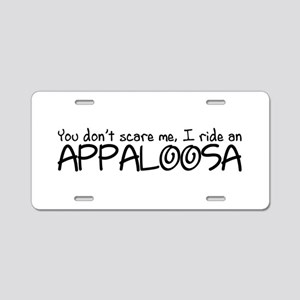 Appaloosa Aluminum License Plate