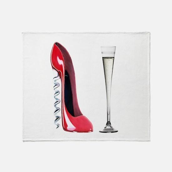 Corkscrew Red Stiletto and Champagne Art Stadium