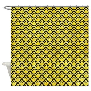 Gold Flake Shower Curtains
