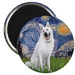Starry-White German Shepherd Magnet