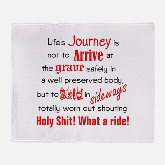 Lifes Journey Throw Blanket