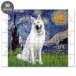Starry-White German Shepherd Puzzle
