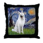 Starry-White German Shepherd Throw Pillow