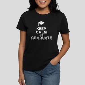 Class Of 2015 Keep Calm Women's Dark T-Shirt