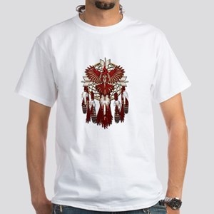 Native Cardinal Mandala White T-Shirt