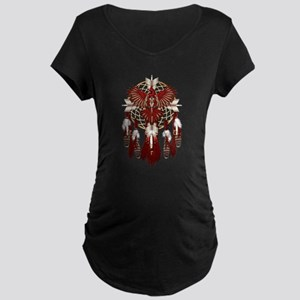 Native Cardinal Mandala Maternity Dark T-Shirt