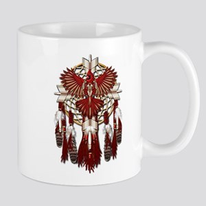 Native Cardinal Mandala Mug
