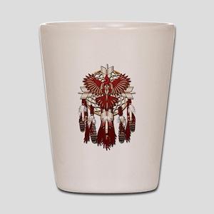 Native Cardinal Mandala Shot Glass
