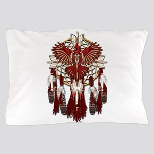 Native Cardinal Mandala Pillow Case