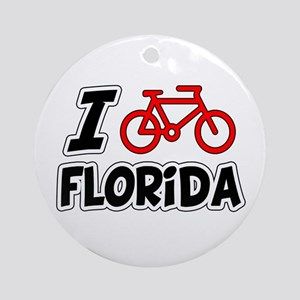 I Love Cycling Florida Ornament (Round)