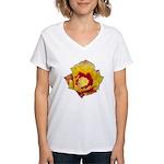 Prickly Pear Flower Women's V-Neck T-Shirt