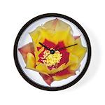 Prickly Pear Flower Wall Clock