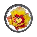 Prickly Pear Flower Wall Clock